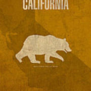 California State Facts Minimalist Movie Poster Art  Art Print
