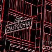 California Street Sign Red Art Print