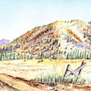 Californian Landscape Saint John Ranch Bald Mountain View Shasta County Art Print