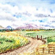 Californian Landscape Saint Johns Ranch Of Mountain Shasta County Art Print