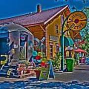 Calistoga Depot Art Print