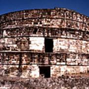 Calixtlahuaca - Round Pyramid Art Print