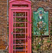 Call Me - Abandoned Phone Booth Art Print
