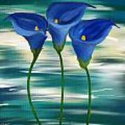 Calla Trio- Calla Lily Paintings Art Print