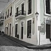 Calle De Luna Y Calle Del Cristo Art Print