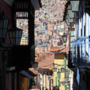 Calle Jaen La Paz Art Print