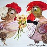 Calling All Chicken Lovers Say I Do Art Print