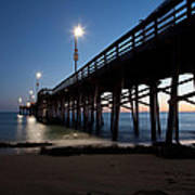 Calm Night At Newport Pier Art Print