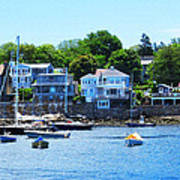 Calm Summer Day At Rockport Harbor Art Print
