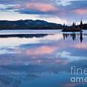 Calm Twin Lakes At Sunset Yukon Territory Canada Art Print