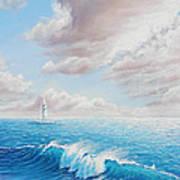 Calming Ocean Art Print by Joe Mandrick
