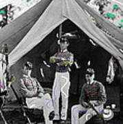 Calvary Troopers On Bivouac Tent Date Unknown Image Restored Color Added 2008  Art Print