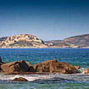 Calvi Citadel In Corsica Art Print