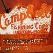 Cambell Farming Corperation Hardin Montana Art Print