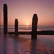 Camber Sands Sunset Art Print by Mark Leader