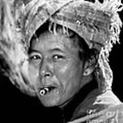 Cambodian Lady Smoker Art Print
