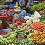 Cambodian Vegetable Market Art Print by Craig Lovell