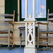 Cambria Squibb House Rocking Chairs Art Print