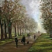 A Walk In Hyde Park London Art Print