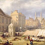 Cambridge Market Place, 1841 Art Print