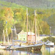 Camden Harbor Maine Art Print by Carol Leigh