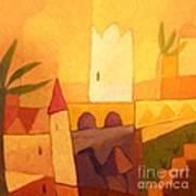 Camel Town Art Print