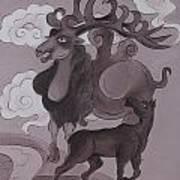 Camel With Horn Art Print