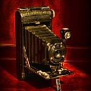 Camera - Vintage Kodak Pocket Camera Art Print