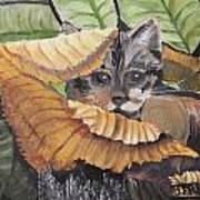 Camo Cat Art Print