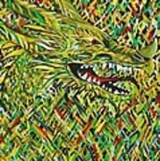 Camo Dragon Art Print by Michael Henzel