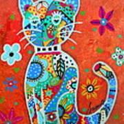 Camo El Gato Art Print