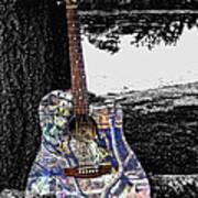 Camo Guitar Art Print