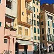Camogli - Homes And Promenade Art Print