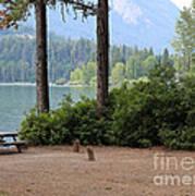 Camp By The Lake Art Print