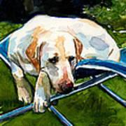 Camp Chair Art Print