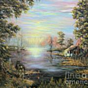 Camp On The Bayou Art Print