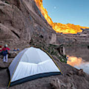 Camping Along The Labyrinth Canyon Art Print