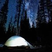 Camping Under The Stars Art Print