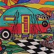 Camping..the Life Art Print by Carol Hamby