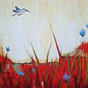 Campo Rojo Art Print