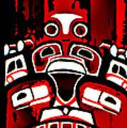 Canada - Inuit Village Totem Art Print