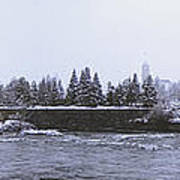 Canada Island And Spokane River Art Print by Daniel Hagerman