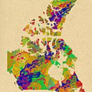 Canada Watercolor  Art Print