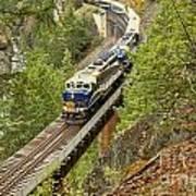 Canadan Railroad Above The Cheakamus River Art Print