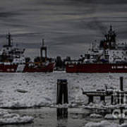 Canadian And United States Icebreakers Art Print