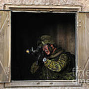 Canadian Army Soldier Conducts Military Art Print by Stocktrek Images