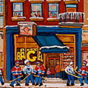 Canadian  Artists Paint Hockey And Montreal Streetscenes Over 500 Prints Available  Art Print