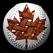 Canadian Bacon Lovers Baseball Square Art Print by Andee Design