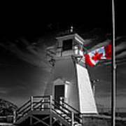 Canadian Flag Half-mast Art Print