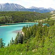 Canadian Highway Lake Art Print